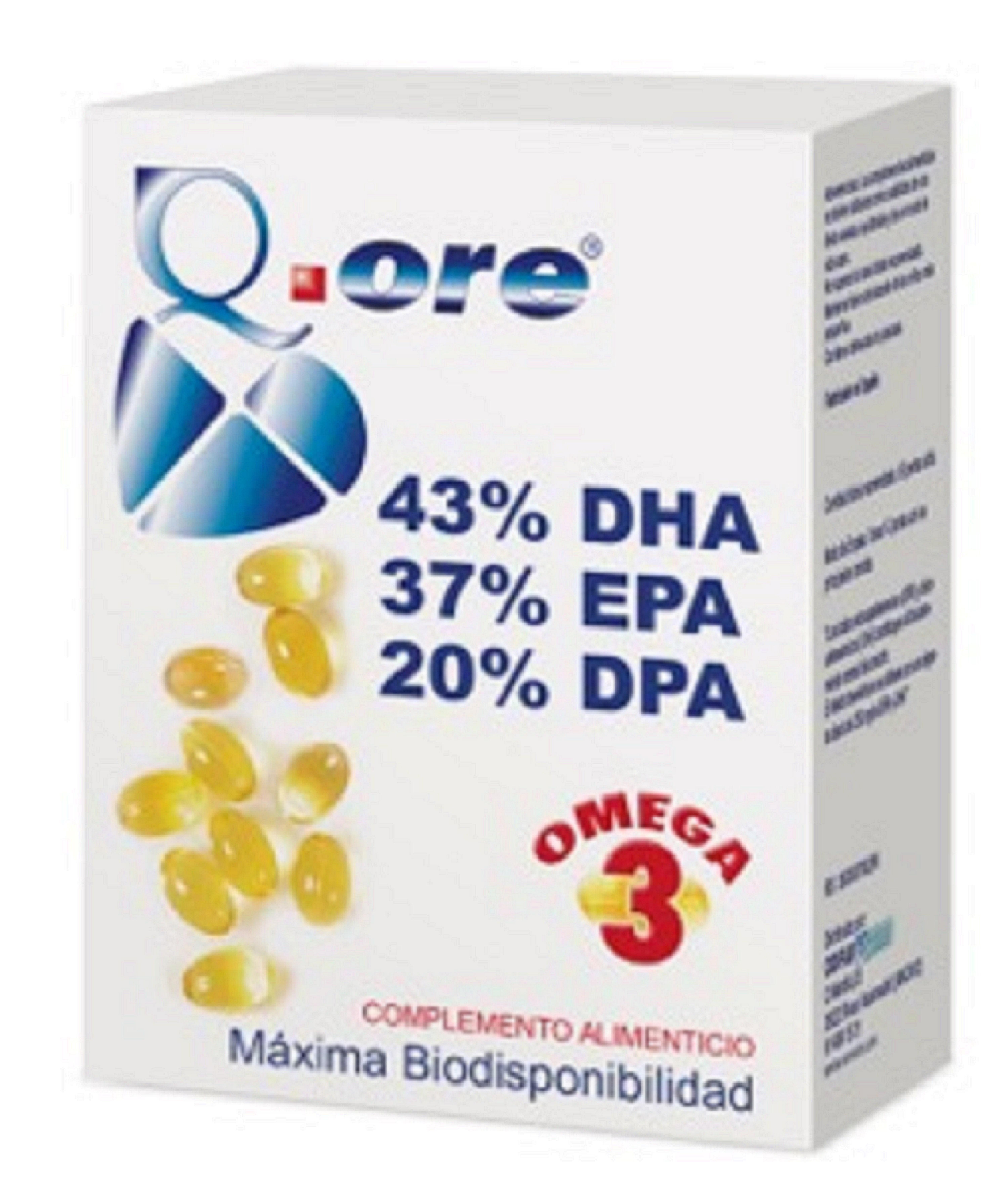 Q.ORE OMEGA 3, formatos de 90 y 180 perlas.