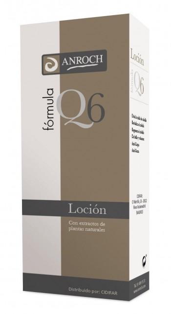 LOCIÓN CAPILAR FÓRMULA Q-6, anticaída 250 mL.