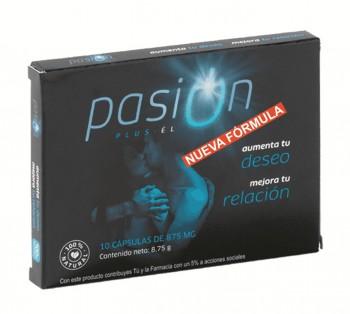 PASIÓN PLUS ÉL, 10 cápsulas de 875 mg.