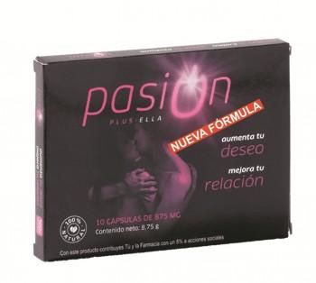 PASIÓN PLUS ELLA, 10 cápsulas de 875 mg.