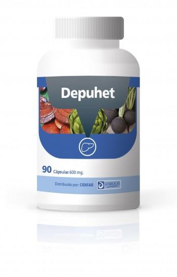 DEPUHET,  90 cápsulas de 600 mg.