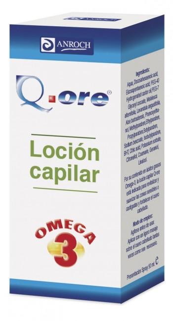 LOCIÓN CAPILAR Q.ORE omega 3, aerosol de 50 mL.