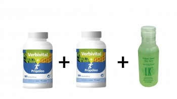 PACK:  2 VERBIVITAL PROPOLEO + GEL ANTIBACTERIAL INSTANT CLEAN 75ML  DE REGALO